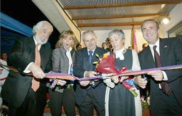 Josep Maldonado, Elisabet Cardoner, Benet Jané, Emma Gamper y Alfons Godall cortaron la cinta.